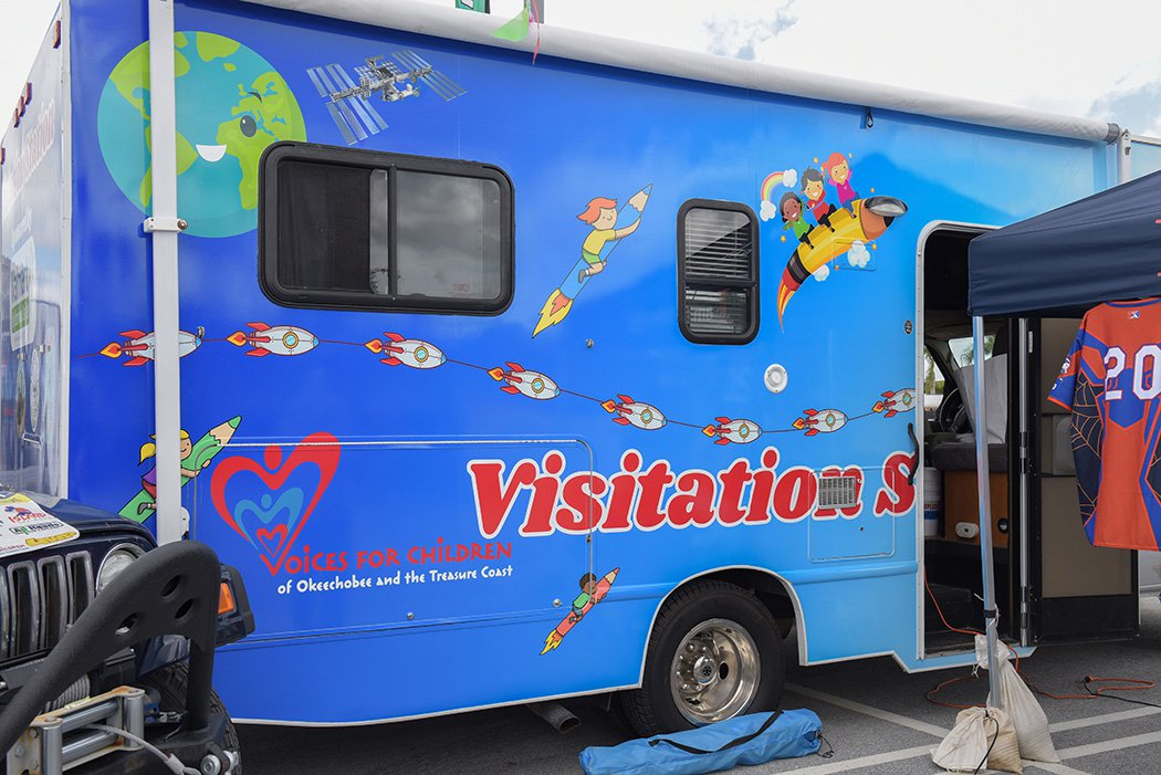 The Visitation Station retrofitted recreational vehicle